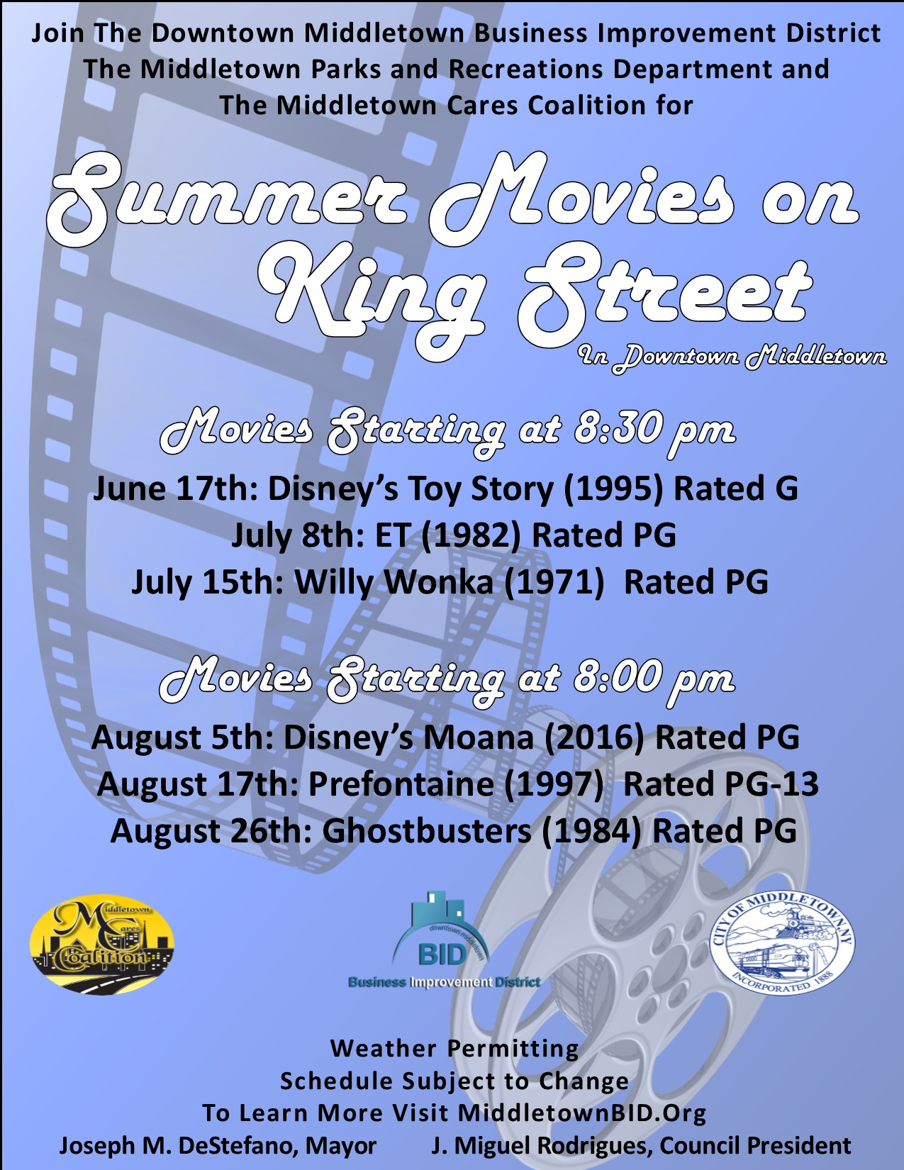 Movies on King Street 2017